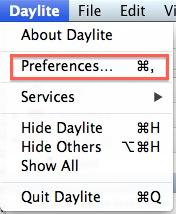 Daylite 4 настройки